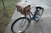 « Old School » Pimpin' sacoche de guidon de vélo de Style militaire - vieille planche à roulettes, sac photo et vélo Mash Up !