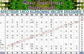 Plein spectre Taco Seasoning poudre recette Designer Table