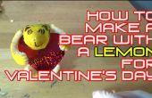 Comment faire un ours avec un citron pour Valentin