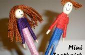 Garçon et fille Mini cure-dent poupées