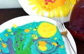 Pancake Art abstrait