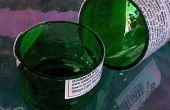 Comment utiliser une tuile humide scie pour coupe verre bouteilles