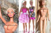 Restauration d'une poupée Barbie moderne avec dépoli et cheveux