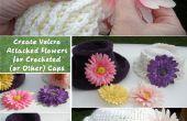 Créer Velcro attaché fleurs au crochet (ou autres) Casquettes