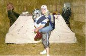 Jessica Simpson & Tony Romo Illusion d'optique Costume