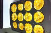 Oeuf, jambon et fromage petit déjeuner muffins (gluten libre ou ordinaire)