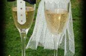 Verres décoratifs mariage mariée & marié