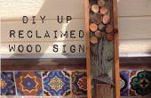 DIY récupéré bois signe Vintage (Up inspiré)