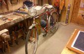 Vieux phare converti à LED vélo Light