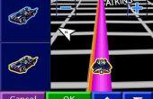 Icône de batmobile animation gps 2.0 : la façon 3d