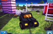 Blocky routes Batmobile (jeux de voiture de Minecrafty)
