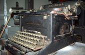 Restauration d'une machine à écrire de 1937