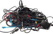 Gestion des câbles pour ordinateur portable