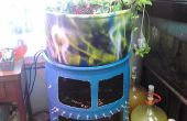 55 gallon baril de grade alimentaire au système aquaponique avec fenêtre de réservoir