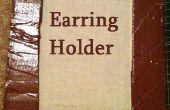 Support de boucle d'oreille (en carton)