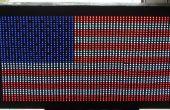 Drapeau USA fait avec LED diffuse