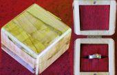 Faire une boîte à bagues de fragments de bois
