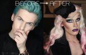 Avant et après : Boy Girl Drag Queen transformation