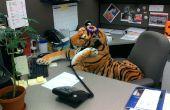 Tigre de cabine au travail