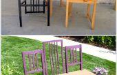 Faire trois chaises en un banc fantastique