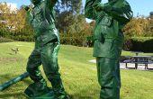 Des soldats jouets en plastique