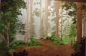 Forêt de bricolage peinture murale