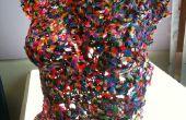 Fondu de perles en plastique - torse de couleur