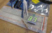 Arduino alimenté 7seg led affichage avec Manipulation de Port - je l'ai fait à TechShop