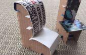 Chaises en carton miniature pour une maison de poupée