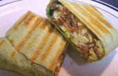 Protéine emballé grillé le Burrito petit déjeuner