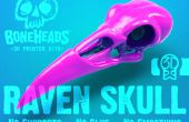 Comment assembler un 3D imprimé crâne Raven et affichage monter