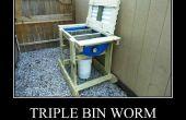 Triple Bin ver composteur - Vermicompost