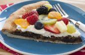 Pizza de fruits au chocolat