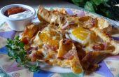 Nachos Breakfast Sunny-côté-vers le haut
