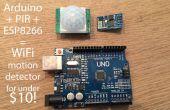 10 $ Arduino WiFi détecteur (PIR) qui écrit dans SQL via le module ESP8266 pas cher