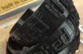 3D Bracelets imprimés « J'ai imprimé ce » soulevées inscription