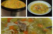 Simple rôti de soupe de nouilles de poulet dans la mijoteuse