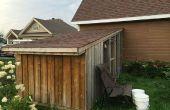 Poulailler adossée - Build toit incliné Backyard Hen Coop