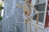 Toile d'araignée géante maison décoration pour l'Halloween !