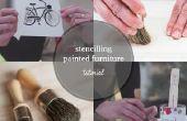 Comment utiliser un pochoir sur des meubles peints