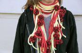 Spaghetti et boulettes de viande en tricot écharpe