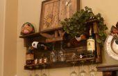 Palette bois casier à vin et liqueur du plateau