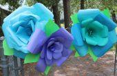 Papier de bricolage géant ROSE fleurs !