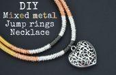 DIY métal mixte sauter collier anneau