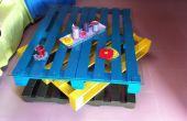 Table de salon de palettes en bois