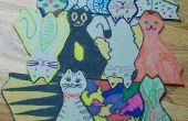 Pavage décoration de chats ou de Puzzle