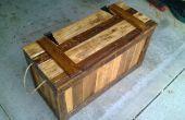 Faux fond tronc de bois récupéré (palettes)