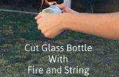 Couper la bouteille avec le feu et la chaîne