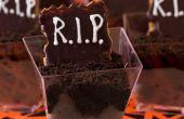 Facile Dessert R.I.P. prises de vue pour Halloween