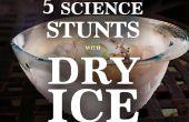 5 cascades Science phénoménale, faits avec la glace sèche